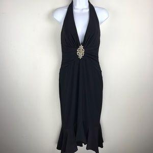 Lillie Rubin Swavorski Mermaid Halter Dress Size 4